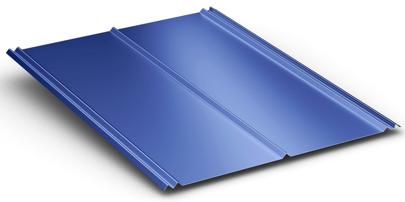 5V Exposed Fastener Roofing Panel Rendering