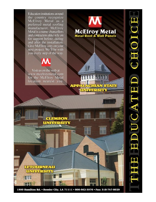 Metal Roofing Specifications And Color Charts Mcelroy Metal